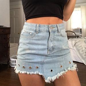 Funky Jean Skirt